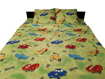 Lenjerie de pat copii Cars verde