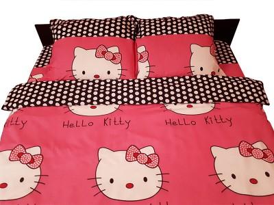 Lenjerie de pat copii Hello Kitty roz