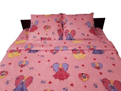 Lenjerie de pat copii Printese cu inimioare