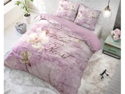 Lenjerie de pat dubla din Bumbac Purple Royal