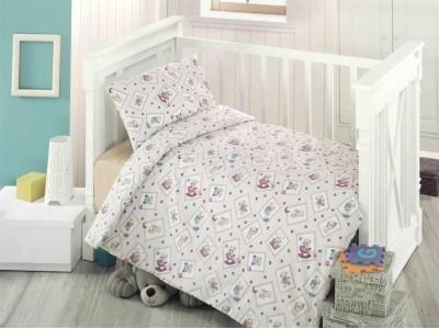 Lenjerie de pat pentru copii Oursson Bedore, 3 piese, Bumbac 100%