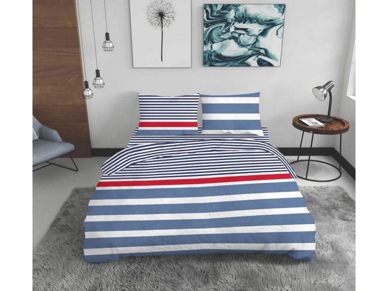 Lenjerie de pat pentru doua persoane Marino , 4 piese, 100% bumbac