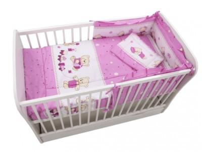 Lenjerie bebe Teddy Toys Roz 120x60