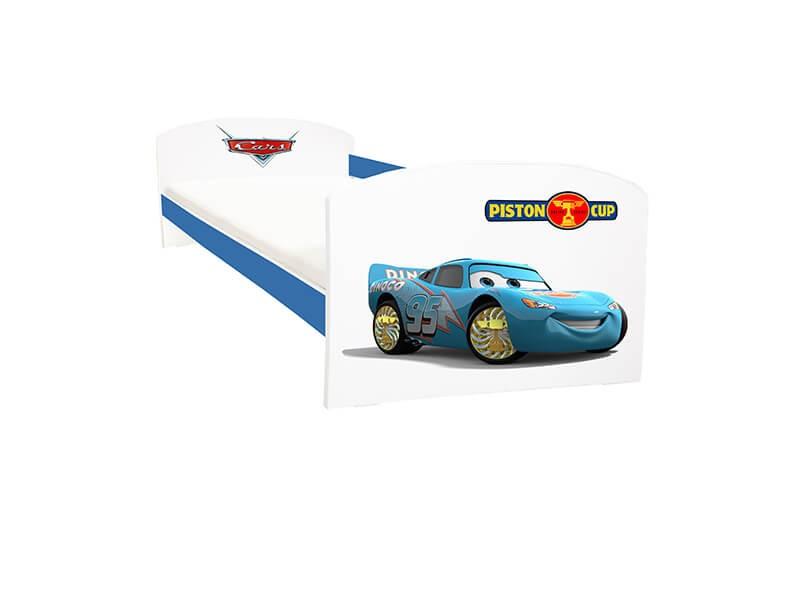 Pat copii Cars Dinoco albastru