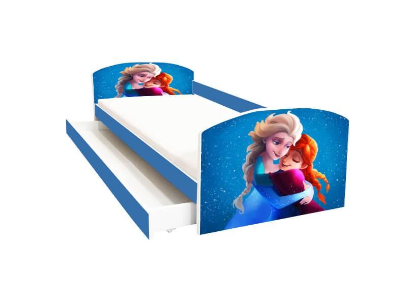 Pat copii cu sertar Anna si Elsa