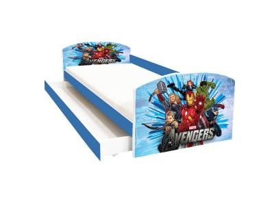 Pat copii cu sertar Avengers