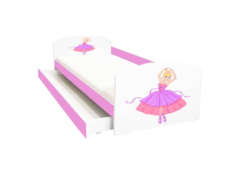 Pat copii cu sertar Balerina