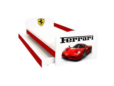 Pat copii cu sertar Ferrari