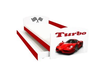 Pat copii cu sertar Ferrari Turbo