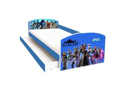 Pat copii cu sertar Fortnite