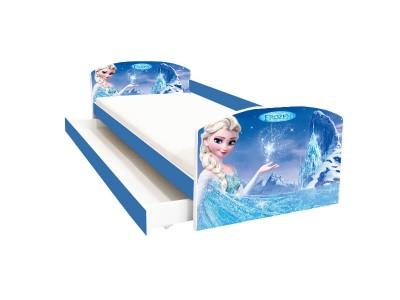 Pat copii cu sertar Frozen Elsa