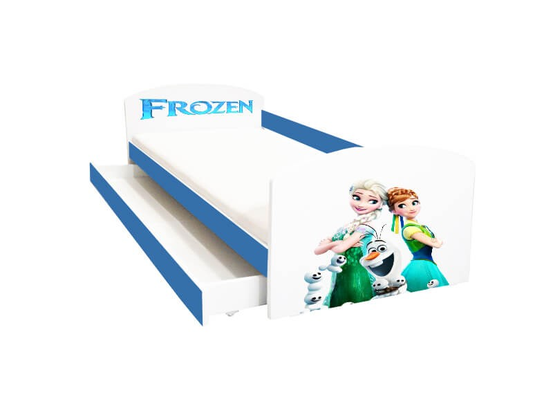 Pat copii cu sertar Frozen