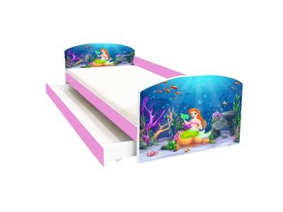 Pat copii cu sertar Mermaid