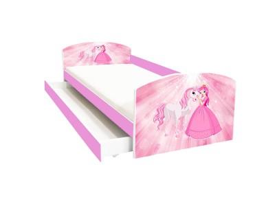 Pat copii cu sertar Poney Princess