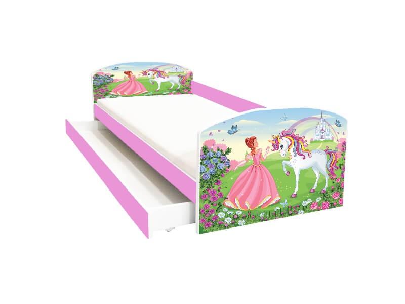 Pat copii cu sertar Princess Unicorn