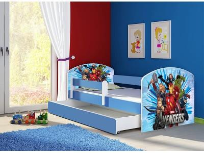 Pat copii cu sertar si saltea Avengers