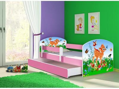 Pat copii cu sertar si saltea Bambi