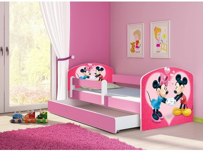 Pat copii cu sertar si saltea Minnie Love