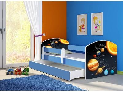 Pat copii cu sertar si saltea Sistem Solar