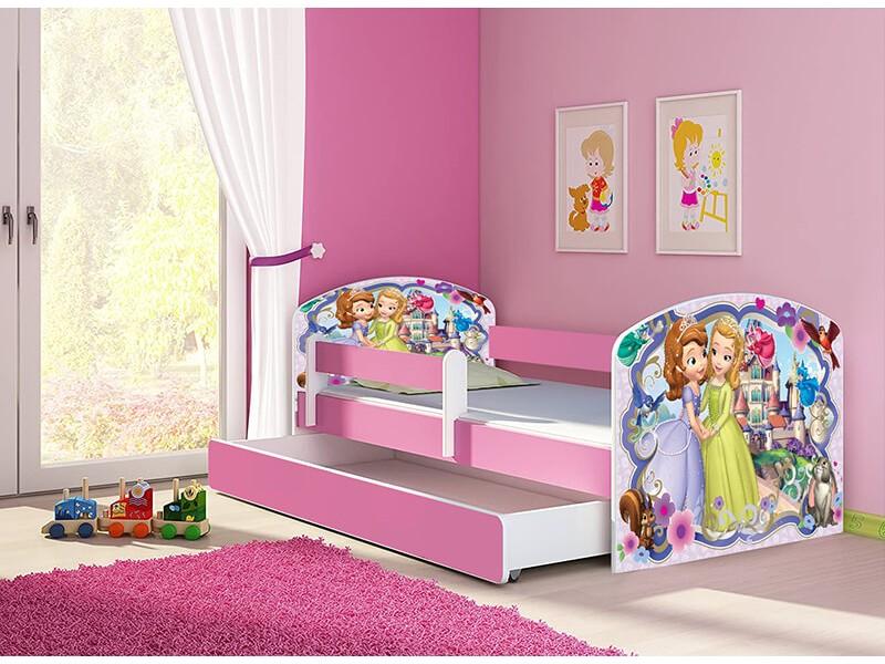 Pat copii cu sertar si saltea Sofia