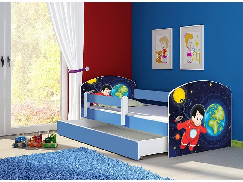 Pat copii cu sertar si saltea Space