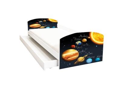 Pat copii cu sertar Sistem Solar