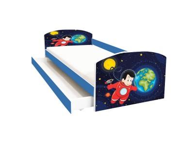 Pat copii cu sertar Space