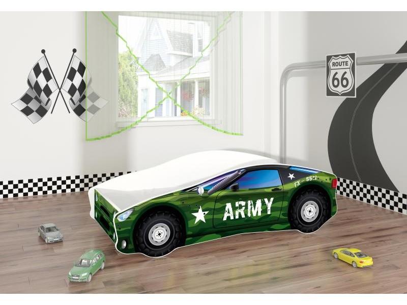 Pat copii masina Army cu saltea
