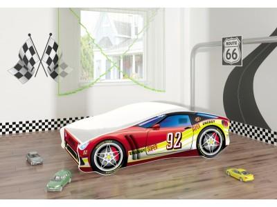 Pat copii masina Super Energy cu saltea